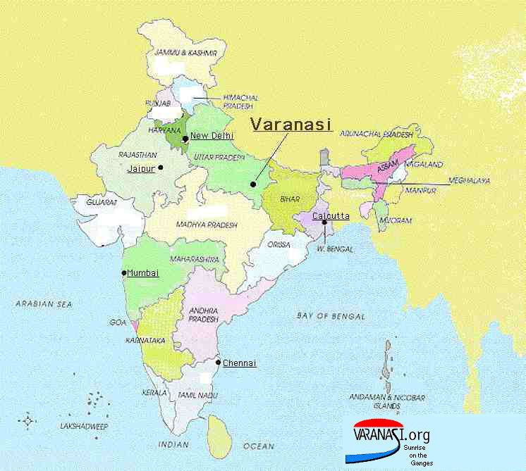 location of varanasi in india map Maps Varanasi Org location of varanasi in india map