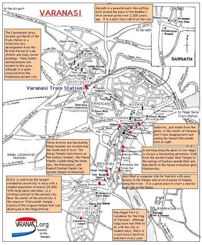 MapsVaranasiorg - Varanasi map